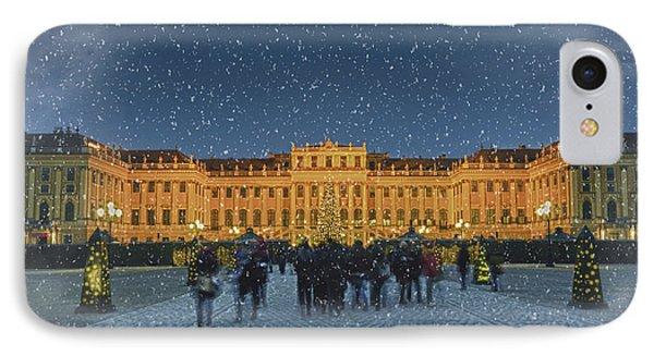 Schonbrunn Christmas Market Phone Case by Joan Carroll