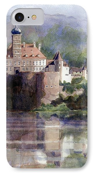 IPhone Case featuring the painting Schonbuhel Castle In Austria by Janet King
