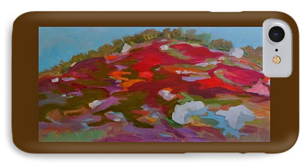 IPhone Case featuring the painting Schoodic Trail Blueberry Hill by Francine Frank