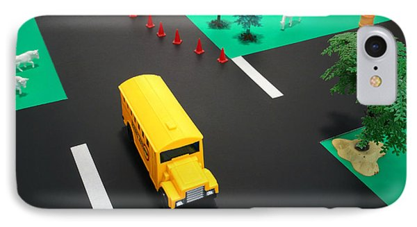 School Bus School Phone Case by Olivier Le Queinec