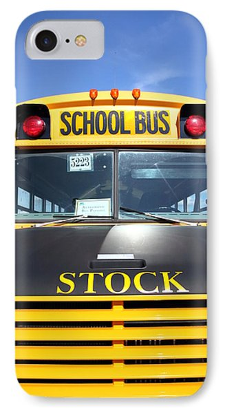 School Bus IPhone Case by Valentino Visentini