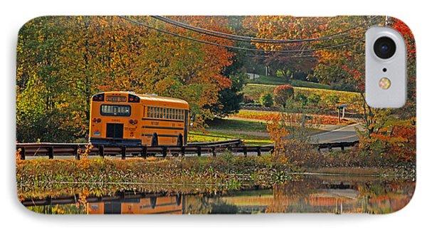 School Days Of Autumn Phone Case by Karol Livote