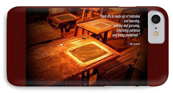 School Desk Billy Graham Quote 2 IPhone Case