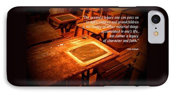 School Desk Billy Graham Quote IPhone Case