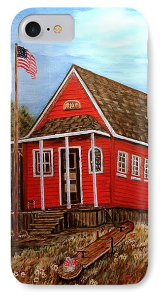 School House Phone Case by Kenneth LePoidevin