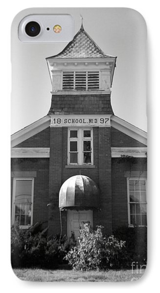 IPhone Case featuring the photograph School House by Michael Krek