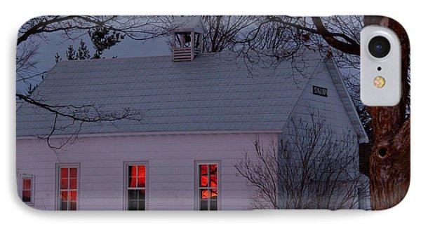 School House Sunset Phone Case by Cheryl Baxter