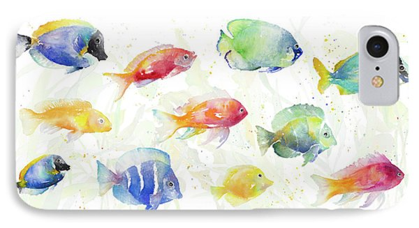 School Of Tropical Fish IPhone Case by Lanie Loreth