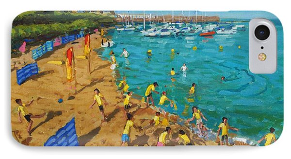 School Outing New Quay Wales IPhone Case by Andrew Macara