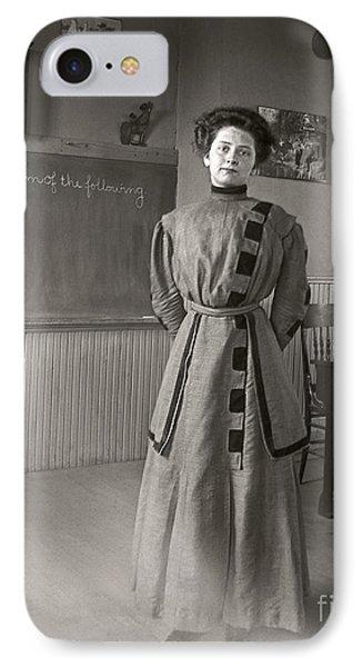 IPhone Case featuring the photograph School Teacher 1890 by Martin Konopacki Restoration