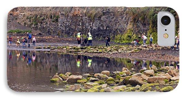School Trip, Kimmeridge Bay, Dorset IPhone Case by Dr Keith Wheeler
