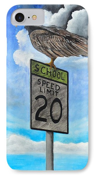 School Zone Reaper IPhone Case by Manny Chapa