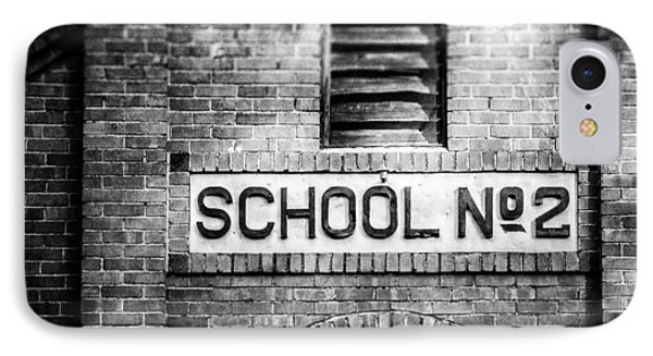 Schoolhouse No. 2 In Black And White IPhone Case by Lisa Russo