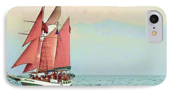 Schooner Jolly Rover Key West Phone Case by Joan  Minchak