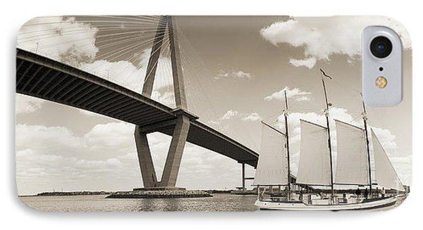 Schooner Pride And Cooper River Bridge IPhone Case by Dustin K Ryan