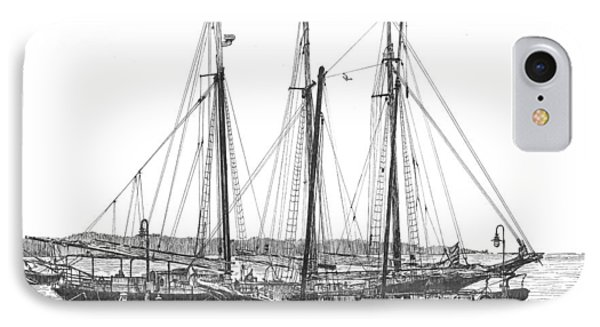 Schooners On The York River IPhone Case by Stephany Elsworth
