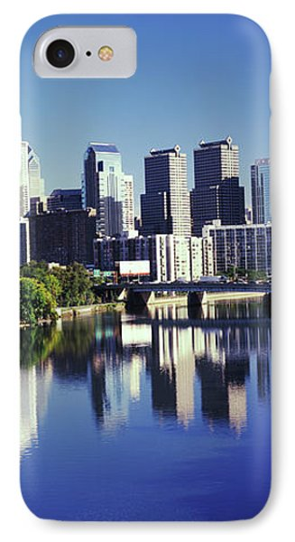 Schuylkill River With Skyscrapers IPhone Case