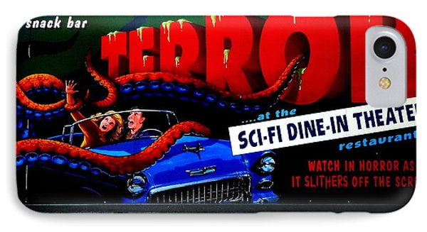 Sci Fi Theater IPhone Case by Benjamin Yeager