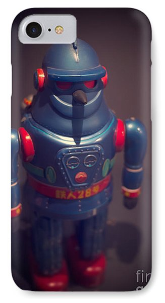Science Fiction Vintage Robot Toy Phone Case by Edward Fielding