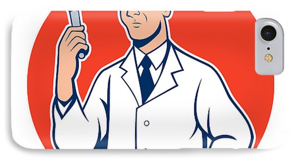Scientist Lab Researcher Chemist Cartoon Phone Case by Aloysius Patrimonio