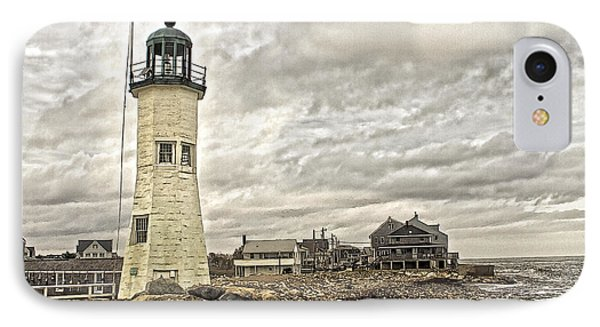 IPhone Case featuring the photograph Scituate Lighthouse by Constantine Gregory