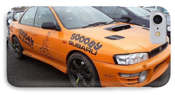 Scooby Subaru Phone Case by Vicki Spindler