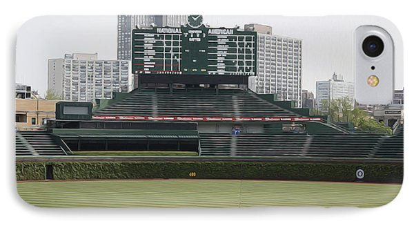 Scoreboard At Wrigley IPhone Case by David Bearden