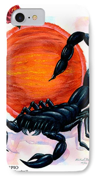 Scorpio Phone Case by Michael Baum