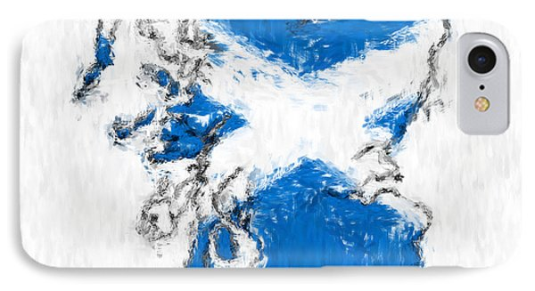 Scotland Painted Flag Map Phone Case by Antony McAulay