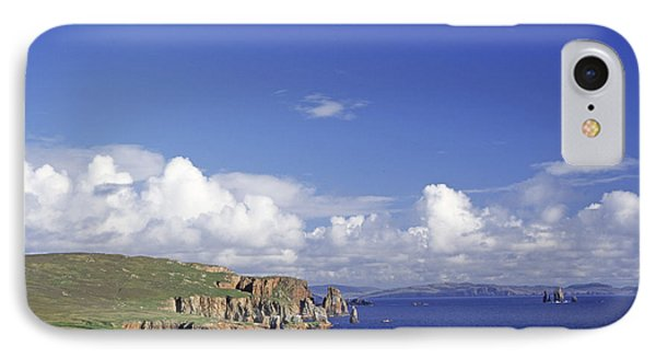 Scotland Shetland Islands Eshaness Cliffs Phone Case by Anonymous