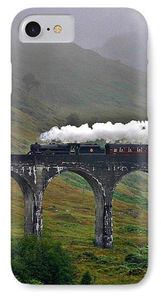 Scotland Steam Train And Bridge IPhone Case by Henry Kowalski