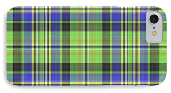 IPhone Case featuring the digital art Scott Ancient Green Tartan by Gregory Scott