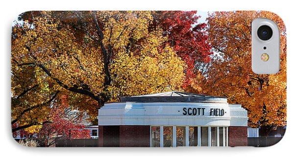 Scott Field  Old Main Gate  IPhone Case by John Freidenberg