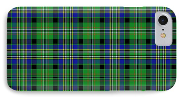 Scott Green Tartan Variant IPhone Case by Gregory Scott