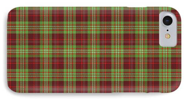 Scott Hunting Green Tartan Variant IPhone Case by Gregory Scott