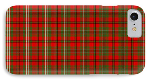 IPhone Case featuring the digital art Scott Red Tartan Variant by Gregory Scott