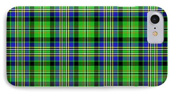 IPhone Case featuring the mixed media Scott Tartan Variant by Gregory Scott