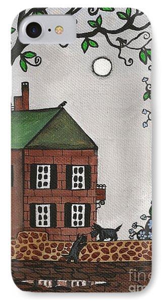 Scotties On An Overcast Day Phone Case by Margaryta Yermolayeva
