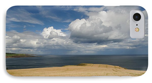 IPhone Case featuring the photograph Scottish Coastal Wheatfield by Jeremy Voisey