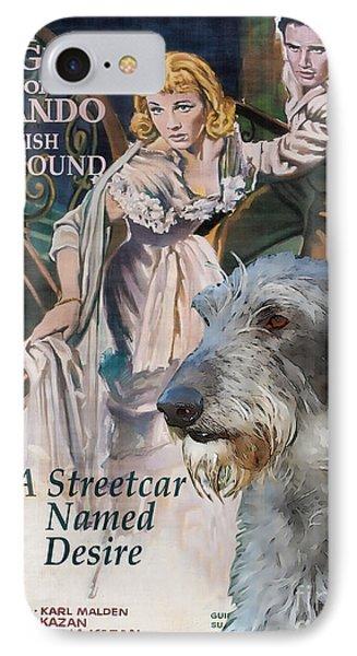 Scottish Deerhound Art - A Streetcar Named Desire Movie Poster Phone Case by Sandra Sij