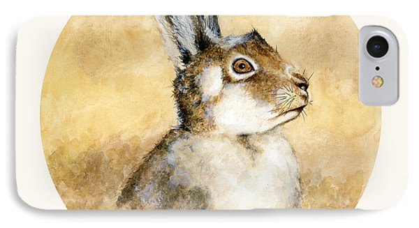Scottish Hare Phone Case by Nathalie Amber