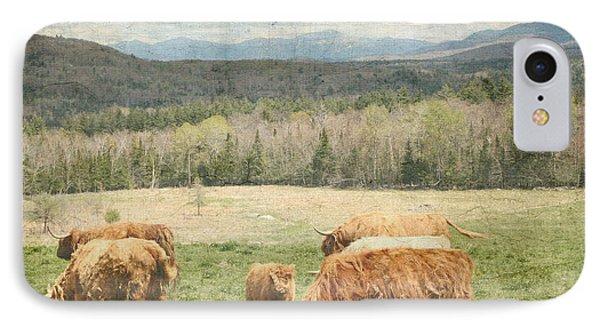 Scottish Highland Grazing  IPhone Case by Betty  Pauwels