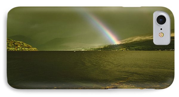 IPhone Case featuring the photograph Scottish Rainbow On Loch Fyne by Jane McIlroy