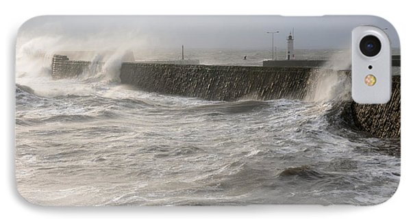 IPhone Case featuring the photograph Scottish Sea Storm by Jeremy Voisey
