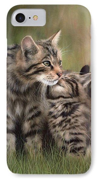 Scottish Wildcats Painting - In Support Of The Scottish Wildcat Haven Project IPhone Case