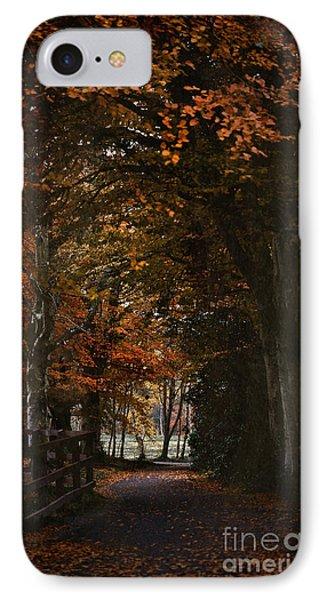 IPhone Case featuring the photograph Scottish Woodland Walk by Liz  Alderdice