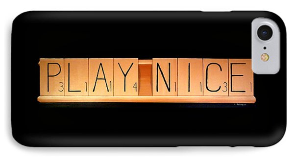 Scrabble IPhone Case by Karyn Robinson