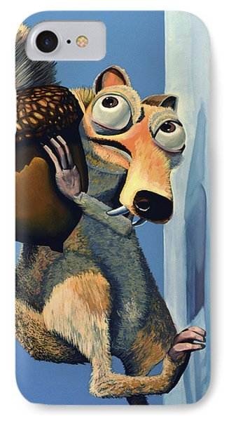 Dinosaur iPhone 7 Case - Scrat Of Ice Age by Paul Meijering