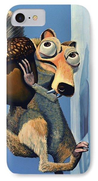 Dawn iPhone 7 Case - Scrat Of Ice Age by Paul Meijering