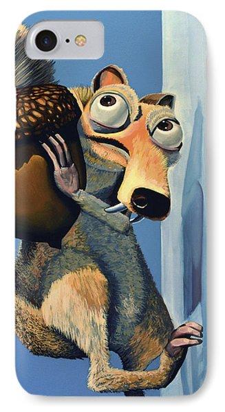 Scrat Of Ice Age Phone Case by Paul Meijering